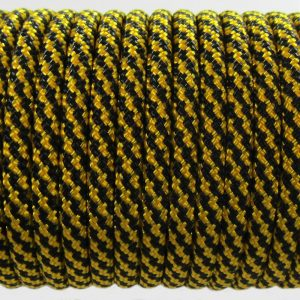 PARACORD TYPE III 550, SPIRAL BLACK&GOLD #083