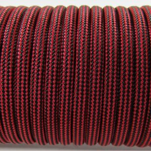 PARACORD TYPE III 550, STRIPS BLACK&RED #074
