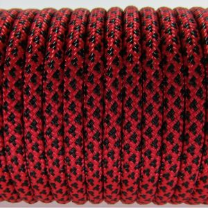 PARACORD TYPE III 550, LEOPARD BLACK&RED #076