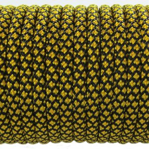 PARACORD TYPE III 550, GRID BLACK&GOLD #081
