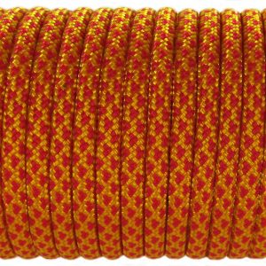 PARACORD TYPE III 550, LEOPARD GOLD&RED #082